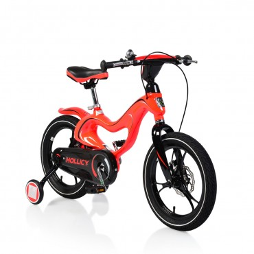 """Byox Children's bicycle 16"""" with disc-brakes Magnesium Red"""