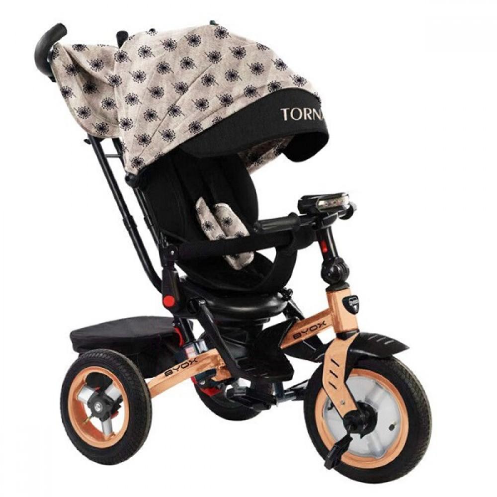 BYOX Children's tricycle with air wheels,Tornado Beige
