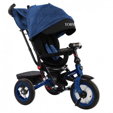 BYOX Children's tricycle with air wheels,Tornado Dark blue
