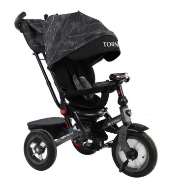 BYOX Children's tricycle with air wheels,Tornado Dark Grey