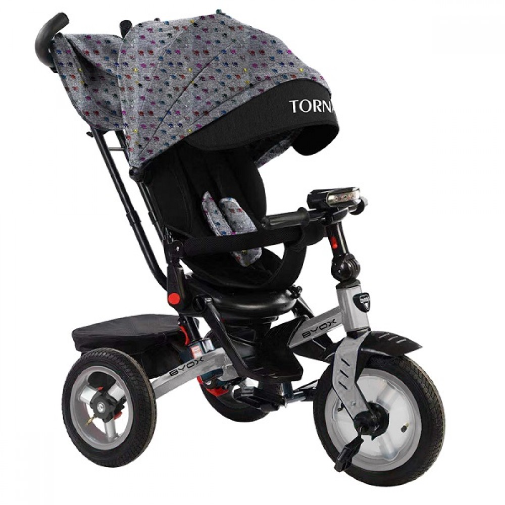BYOX Children's tricycle with air wheels,Tornado Grey