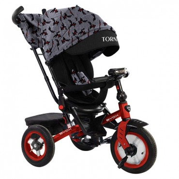 BYOX Children's tricycle with air wheels,Tornado Red
