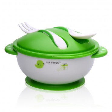 Cangaroo Set of feeding bawl with fork and spoon ,F1301