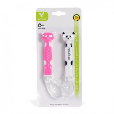Cangaroo Set of silicone spoons Baby Panda Pink - F1607