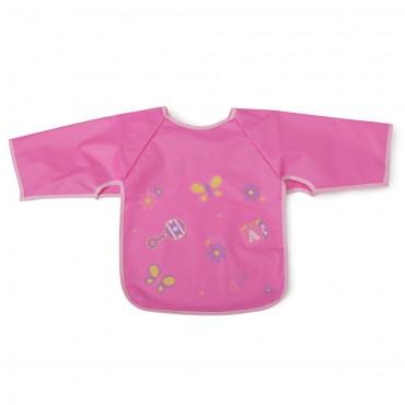 Cangaroo Baby Bib with sleeve Piggy Pink 1007