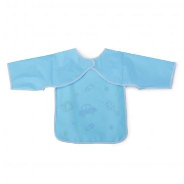 Cangaroo Baby Bib with sleeve Piggy Blue 1007