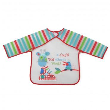 Cangaroo Baby Bib with sleeve Messy Red 1008
