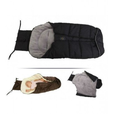 Cangaroo footmuff –sleeping bag, Fluffy Black
