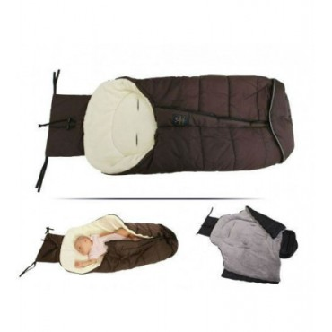 Cangaroo footmuff –sleeping bag, Fluffy Brown