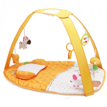 Cangaroo play gym and activity mat Pastel Orange Sunset