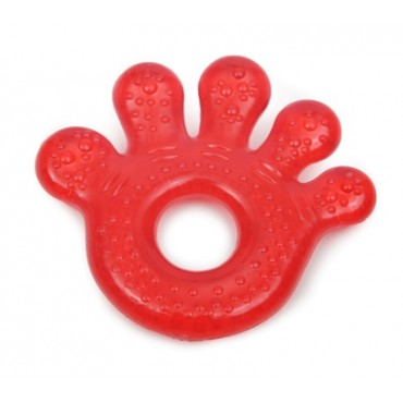 Cangaroo water filled teether paw red T1205