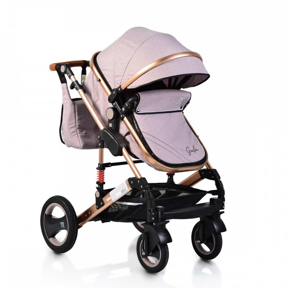Moni reversible combined baby stroller 2 in1 Gala Beige Leather