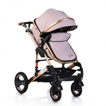Moni reversible combined baby stroller 2 in1 Gala Beige Leather