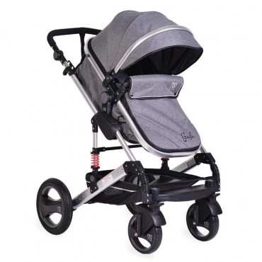 Moni reversible combined baby stroller 2 in1 Gala Dark Grey
