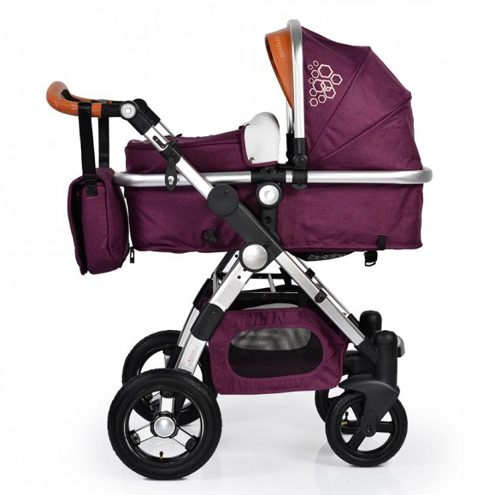 Cangaroo Luxor 2 in1  Purple reversible combined baby stroller with Car seat