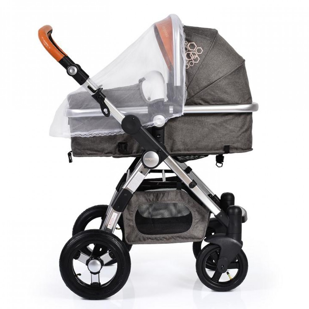 Cangaroo Luxor Beige 2 in 1 reversible combined baby stroller with Car seat