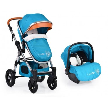 Cangaroo Luxor 2 in 1 Turquoise reversible combined baby strolller with Car seat