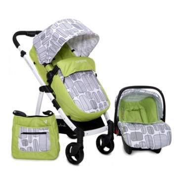 Cangaroo Rachel Green New reversible combined baby stroller  3 in1