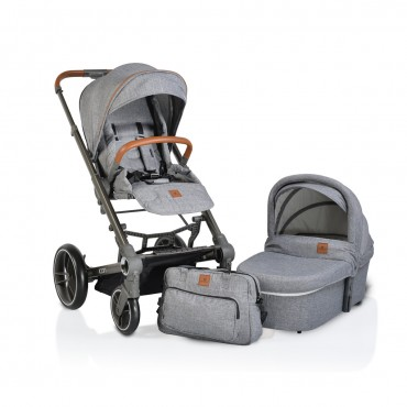 Cangaroo Baby Stroller with carrycot ,Icon Grey