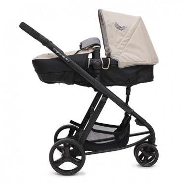 Cangaroo Sarah Beige 3 in 1 reversible combined baby stroller