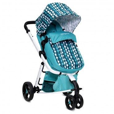 Cangaroo Sarah Blue 2 in 1 reversible combined baby stroller