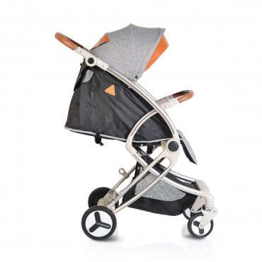 Cangaroo Baby Stroller with aluminium frame and footcover Siri Beige