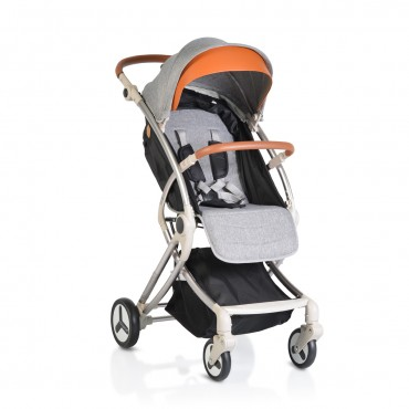 Cangaroo Baby Stroller with aluminium frame and footcover Siri Grey