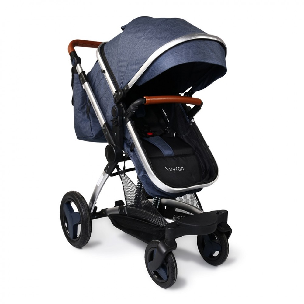 Moni reversible combined baby stroller 3 in 1, Veyron Jeans