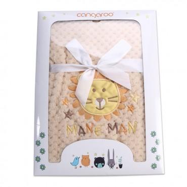 Cangaroo Baby blanket 110x 80cm, Freya Beige