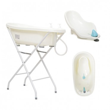 Cangaroo Baby Bath tub set with stand Bubble  Blue