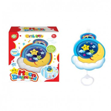 Moni Bed Musical Toy Moon Dreamland - SL81905