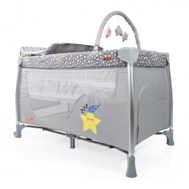 Cangaroo Playpen 2 Levels Good Night Grey