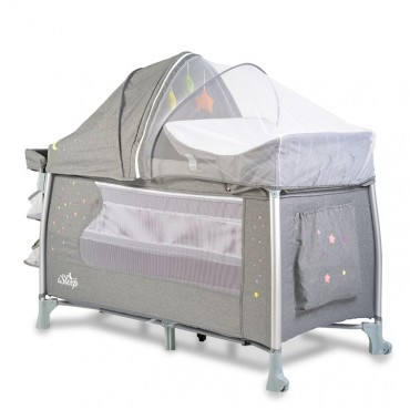 Cangaroo Play Yard with 2 Levels, I Sleep Grey