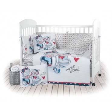 Kikkaboo 6-piece baby cot bedding set Love Rome, 3807000241825