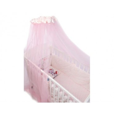 Kikkaboo Bedding set 7 pieces with canopy  Pink Station 60/120 3801101070025