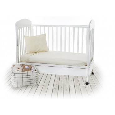 Kikkaboo 2-piece baby cot bedding set 60 x 1.20 Vanilla Soft, 3807000241108