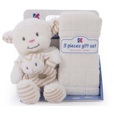 Kikkaboo Gift set Sheep toy and blanket ivory, 31103020039