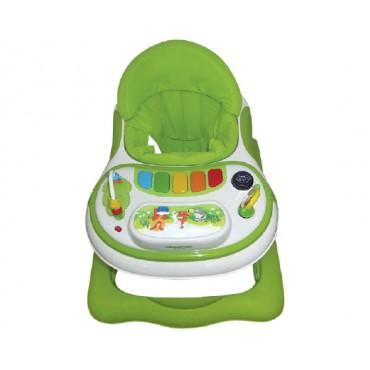 Kikkaboo Walker with music toy Forest Party Green, 3807000140913