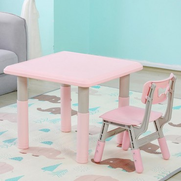 Moni Garden Table with one chair Lala pink, 18106