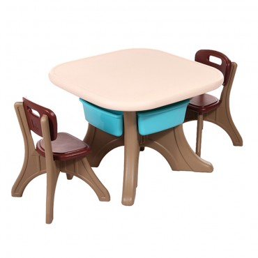 Moni Garden Table With Two Chairs Comfort Brown, 18109