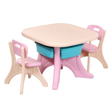 Moni Garden Table With Two Chairs Comfort Pink, 18109