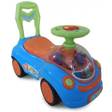 Moni children's toy car and walker , Ride on Happy Baby Blue, Q07-2