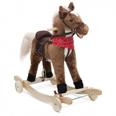 Moni Plush Rocking Horse with wheels, Chipper 2 in 1GS2031