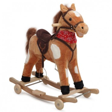 Moni Plush Rocking Horse with wheels, Thunder 2 in 1 GS2021W