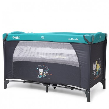 Moni 2-level play yard Tommy Blue