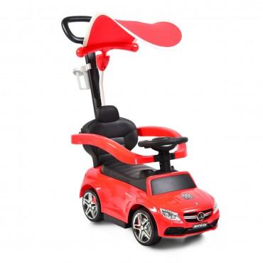 Moni Ride on with canopy Mercedes Coupe C63-639P, Red