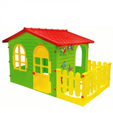 Mochtoys Playhouse with fence, 10498
