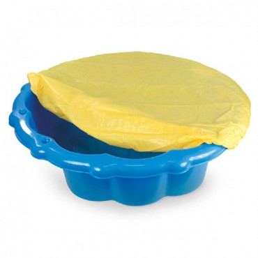 Mochtoys sandbox with cover Blue,11575