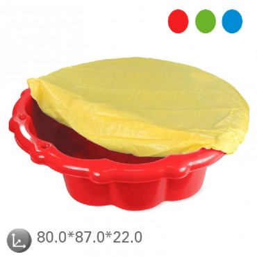Mochtoys sandbox with cover  Red,11575