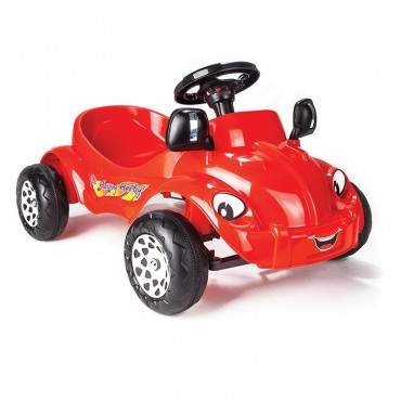Pilsan small car with pedals Happy Herby Red, 07303R